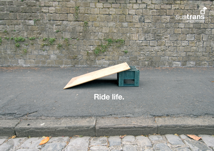 Sustrans cycling ad campaign