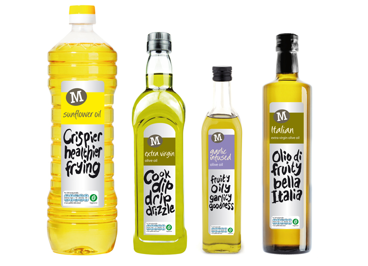 Morrisons Oil packaging