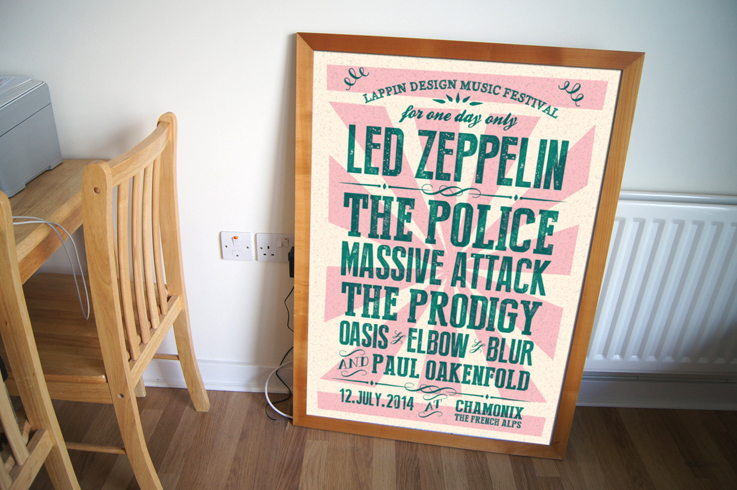 Personalised music festival posters